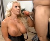 Big-tit MILF is frisked and fucked by a cop