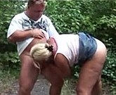 Fat Woman Having Sex With Her Husband Outdoors